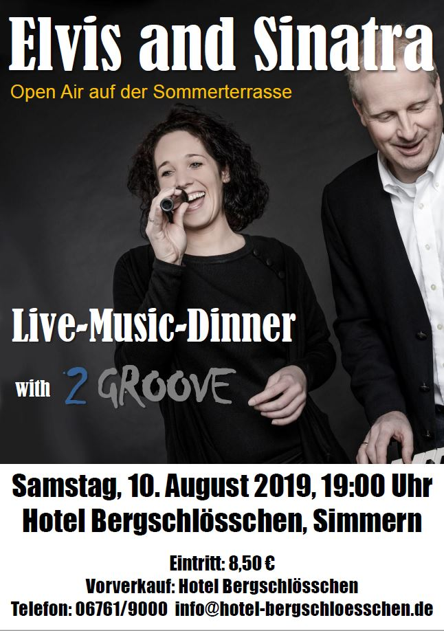 Flyer for a live music dinner