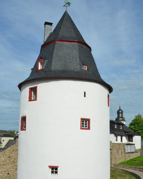 Historical tower with windows