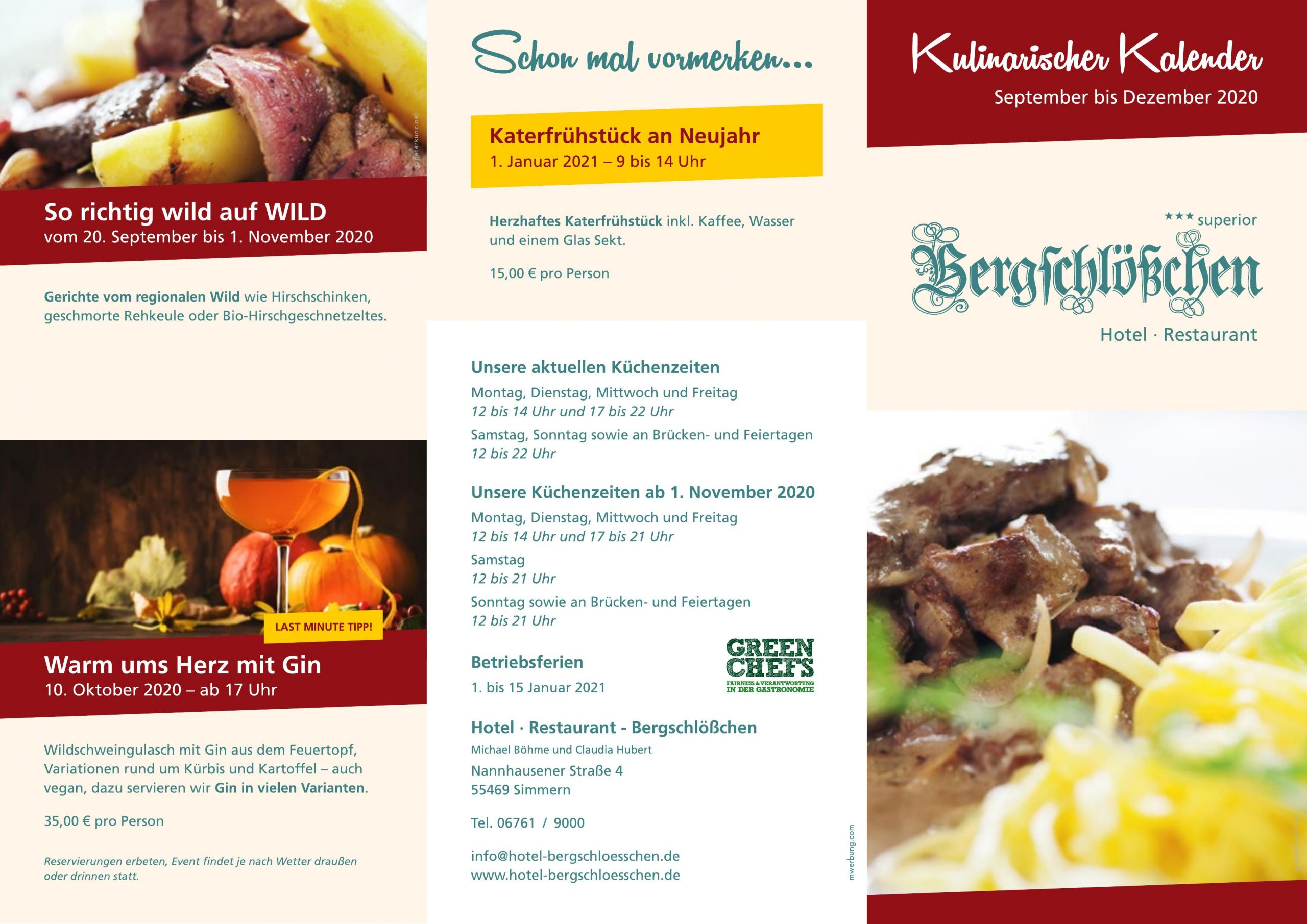 Flyer kulinarischer Kalender